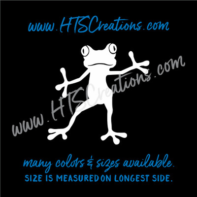 Frog Tree Standing Jazz Hands Amphibian Toad Vinyl Decal Laptop Tablet Computer Car Truck  Mirror Boat