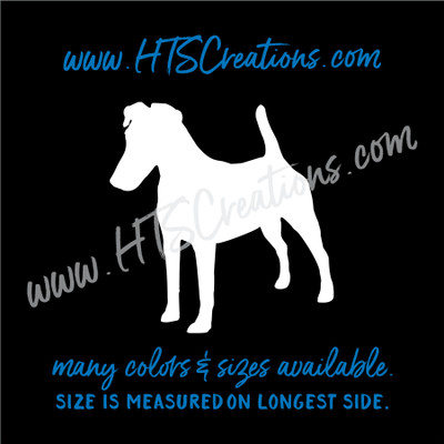 Dog Breed SMOOTH FOX TERRIER Vinyl Decal Sticker K9 Police Rescue Canine  WHITE
