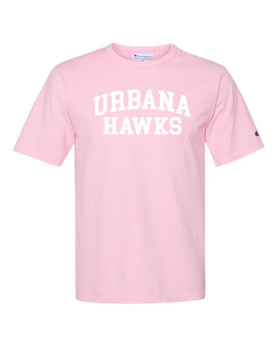 Urbana Hawks T-shirt Cotton CHAMPION Garment Dyed Many Colors Available Sz S-3XL PINK CANDY