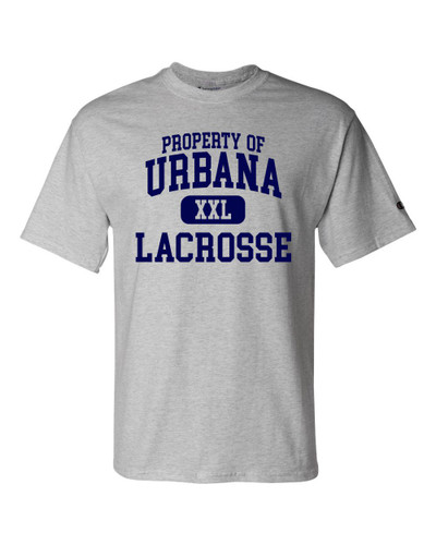 Urbana Hawks LACROSSE T-shirt Cotton CHAMPION Many Colors Available YOUTH Sz S-XL  LIGHT STEEL