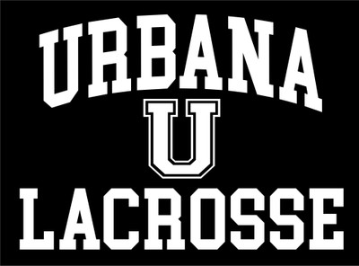 Urbana Hawks U LACROSSE Vinyl Decal Hawk Head Lacrosse Car Truck Mirror Wall