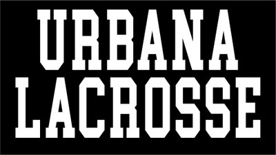 Urbana Hawks LACROSSE Varsity Words Vinyl Decal Car Truck Mirror Wall