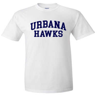 Urbana Hawks LACROSSE T-shirt Cotton Many Colors Available SZ S-4XL WHITE