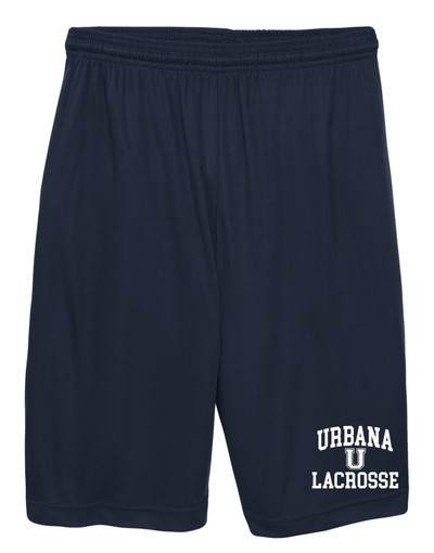 Urbana Hawks LACROSSE Shorts Performance with Pockets Many Colors Available YOUTH SIZE  S-XL NAVY