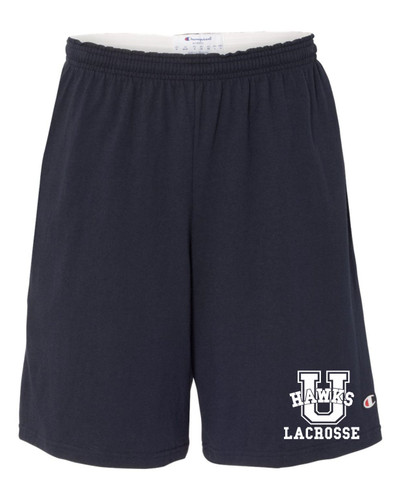 Urbana Hawks LACROSSE U Shorts Cotton with Pockets CHAMPION Many Colors Available SIZE  S-3XL NAVY