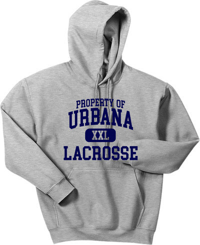 Urbana Hawks LACROSSE Cotton Hoodie Sweatshirt Property Of Many Colors Available SZ S-3XL SPORTS GREY