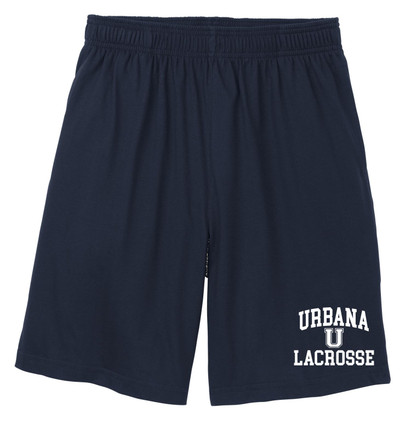 rbana Hawks LACROSSE Shorts Cotton Jersey Knit with Pockets Many Colors Available SIZE S-3XL NAVY