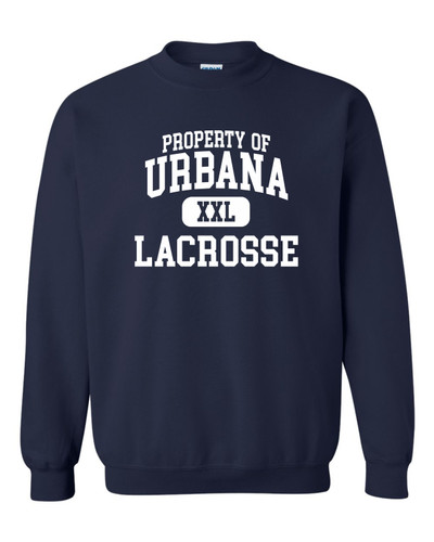 Urbana Hawks LACROSSE Cotton Crewneck Sweatshirt Property Of Many Colors Available Size S-3XL NAVY