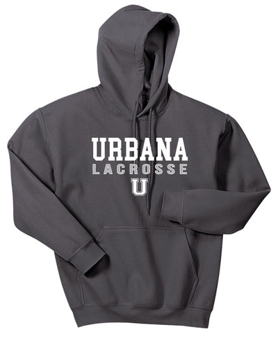 Urbana Hawks LACROSSE Cotton Hoodie Sweatshirt  Many Colors Available SZ S-3XL Charcoal