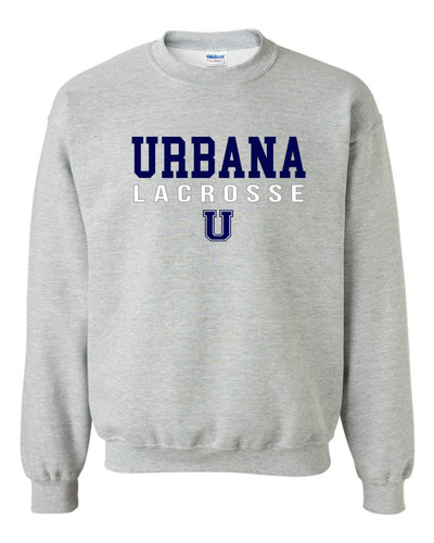 Urbana Hawks LACROSSE Cotton Crewneck Sweatshirt Many Colors Available Size S-3XL SPORTS GREY