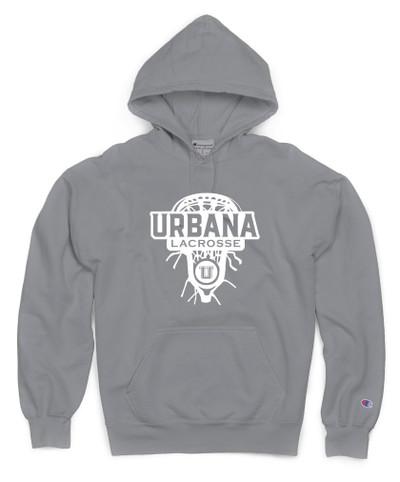 Urbana Hawks Hoodie Garment Dyed Sweatshirt CHAMPION Many Colors Available LAX HEAD Sz S-3XL COONCRETE