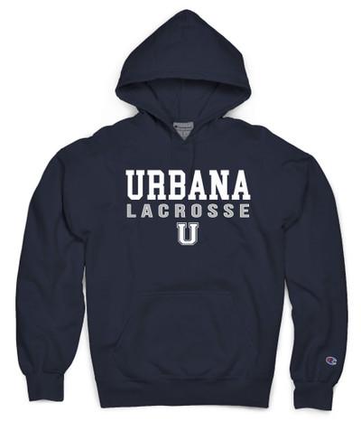 Urbana Hawks LACROSSE Hoodie Garment Dyed Sweatshirt CHAMPION Many Colors Available Sz S-3XL  NAVY