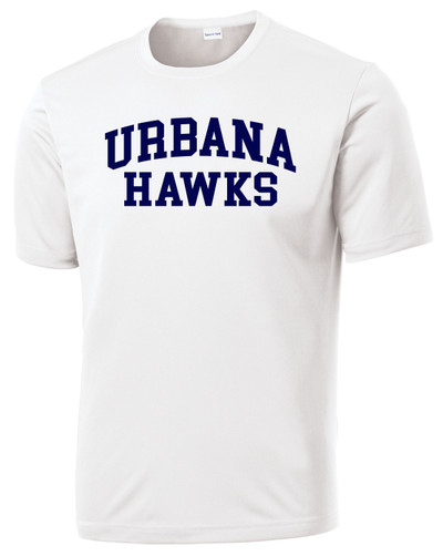 Urbana Hawks LACROSSE T-shirt Performance Posi Charge Competitor Many Colors Available SZ XS-4XL WHITE