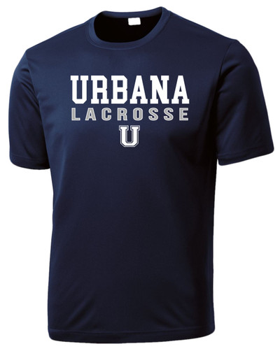 Urbana Hawks LACROSSE U T-shirt Performance Posi Charge Competitor Many Colors Available YOUTH SZ S-XL NAVY