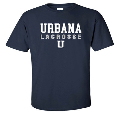 Urbana Hawks LACROSSE T-shirt Cotton Many Colors Available SZ S-4XL NAVY