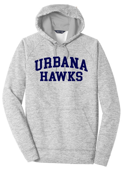 Urbana Hawks LACROSSE Hoodie Performance PosiCharge Electric Heather Fleece Pullover Sweatshirt Many Colors Available LADIES  Sizes XS-4XL SILVER ELECTRI