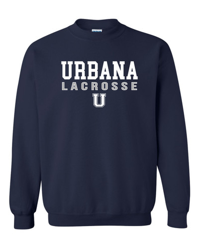 Urbana Hawks LACROSSE Cotton Crewneck Sweatshirt Many Colors Available SZ YOUTH S-XL NAVY