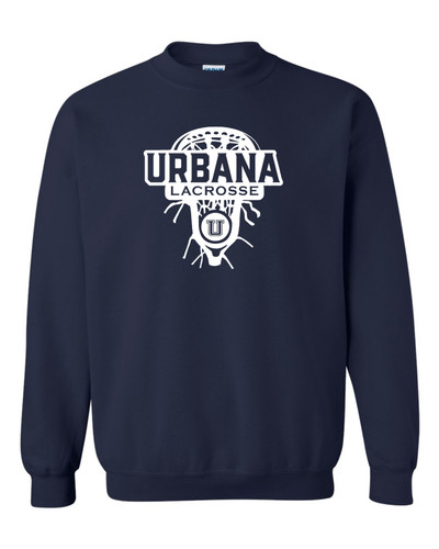 Urbana Hawks Cotton Crewneck Sweatshirt LAXHEAD Many Colors Available SZ YOUTH S-XL NAVY