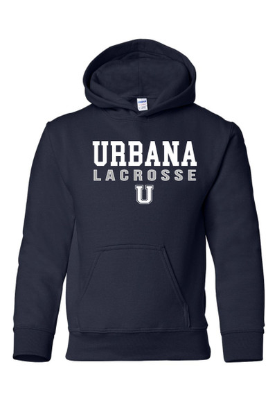 Urbana Hawks LACROSSE  Cotton Hoodie Sweatshirt YOUTH Many Colors Available SZ S-XL  NAVY