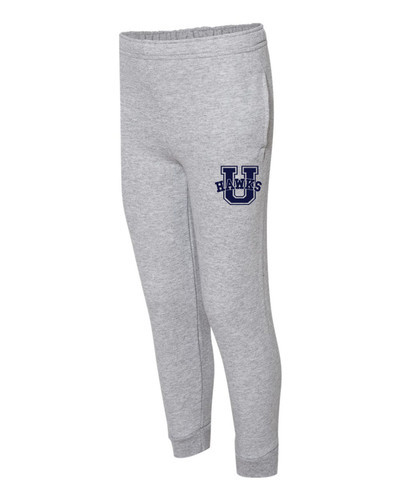 Urbana Hawks Sweatpants JOGGERS Cotton Polyester YOUTH Colors Many Colors Available SZ S-XL ATHLETIC GREY