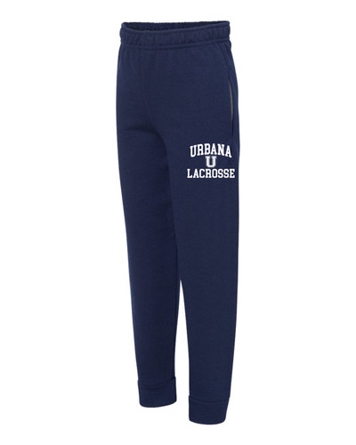 Urbana Hawks LACROSSE  Sweatpants JOGGERS Cotton Polyester YOUTH Colors Many Colors Available  SZ S-XL NAVY