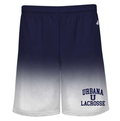 Urbana Hawks LACROSSE Shorts Performance Badger Ombre Many Colors Available YOUTH SZ S-XL NAVY