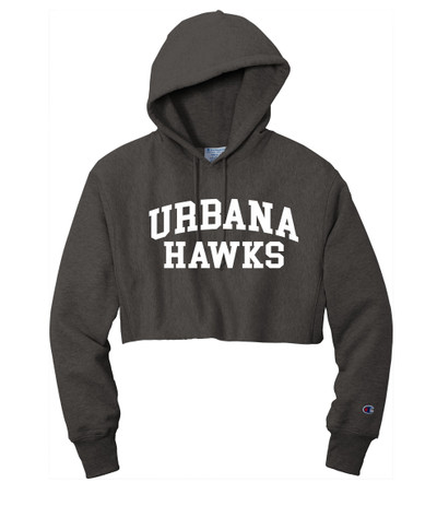 Urbana Hawks Reverse Weave Hoodie Sweatshirt CHAMPION HEAVYWEIGHT Many Colors Available LADIES Sz S-2XL CHARCOAL