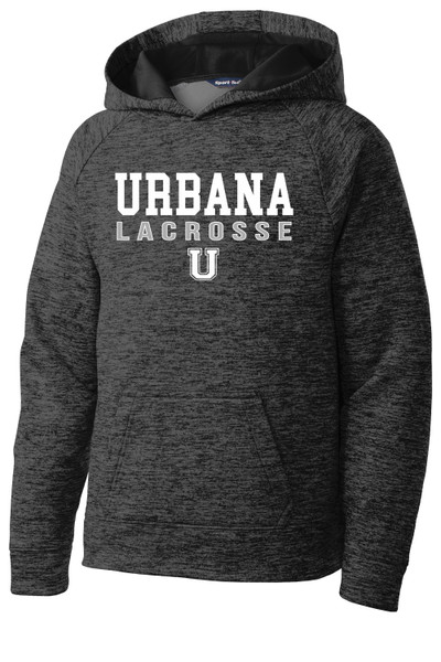 Urbana Hawks LACROSSE Hoodie Performance PosiCharge Electric Heather Fleece Pullover Sweatshirt Many Colors Available YOUTH Sizes S-XL GREY BLACK ELECTRIC