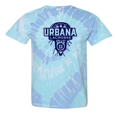 Urbana Hawks LACROSSE T-shirt Cotton LAXHEAD TIE DYE WILDFLOWER SZ S-2XL