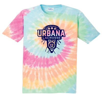 Urbana Hawks LACROSSE T-shirt Cotton TIE DYE PASTEL RAINBOW LAXHEAD Size S-4XL