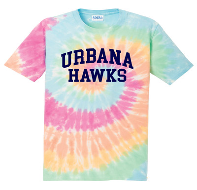 Urbana Hawks T-shirt Cotton TIE DYE PASTEL RAINBOW YOUTH SZ S-L