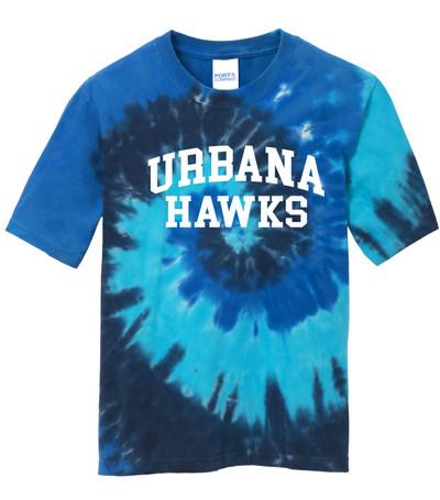 Urbana Hawks T-shirt Cotton TIE DYE OCEAN RAINBOW Size YOUTH S-L