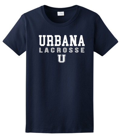 Urbana Hawks LACROSSE T-shirt Cotton Many Colors Available LADIES SZ S-3XL NAVY