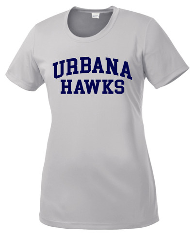 Urbana Hawks T-shirt Performance Posi Charge Competitor Many Colors Available LADIES SZ XS-4XL SILVER