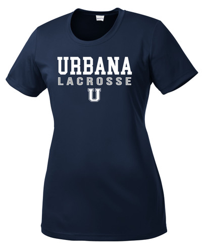 Urbana Hawks LACROSSE T-shirt Performance Posi Charge Competitor Many Colors Available  LADIES SZ XS-4XL NAVY
