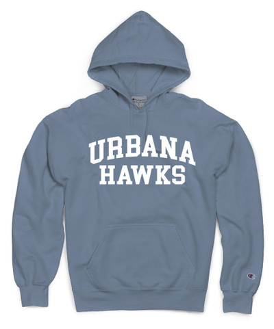 Urbana Hawks Hoodie Garment Dyed Sweatshirt CHAMPION Many Colors Available Sz S-3XL  SALTWATER