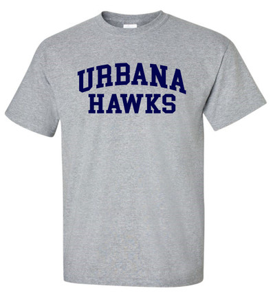 UHS Urbana Hawks TENNIS T-shirt Cotton U Many Colors & Sizes Available S-3XL SPORTS GREY