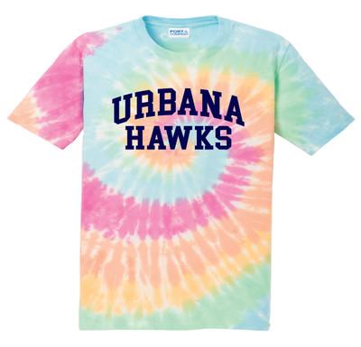 UHS Urbana Hawks T-shirt Cotton TIE DYE PASTEL RAINBOW Size S-4XL