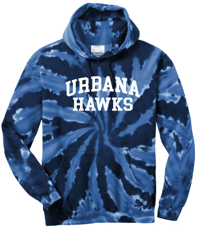 UHS Urbana Hawks Tie Dyed Cotton Hoodie Sweatshirt Many Colors Available SZ S-3XL NAVY SPIRAL
