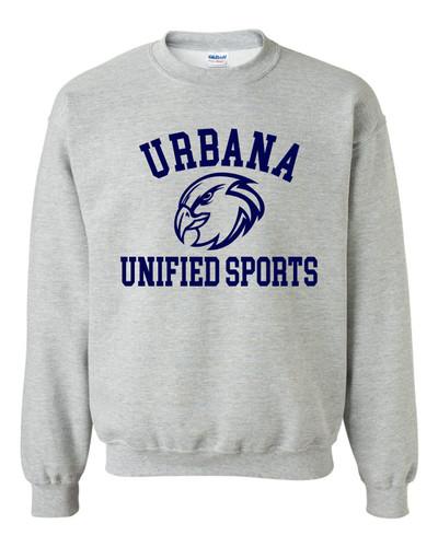 UHS Urbana Hawks Crewneck Cotton Sweatshirt UNIFIED SPORTS Many Colors Available Size S-3XL  SPORTS GREY