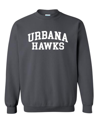 UHS Urbana Hawks Crewneck Cotton Sweatshirt Many Colors Available Size S-3XL CHARCOAL