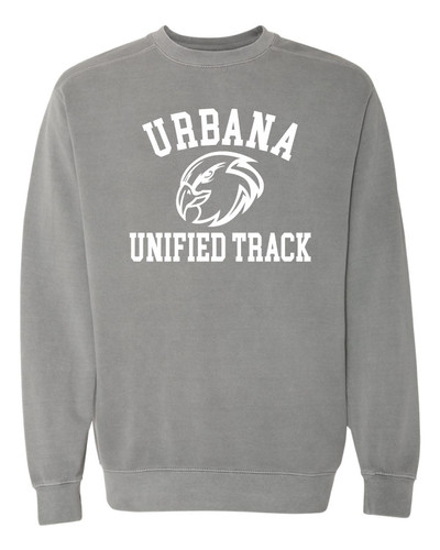 UHS Urbana Hawks UNIFIED TRACK Crewneck Cotton Sweatshirt COMFORT COLORS Many Colors Available Sizes S-3XL GRAY