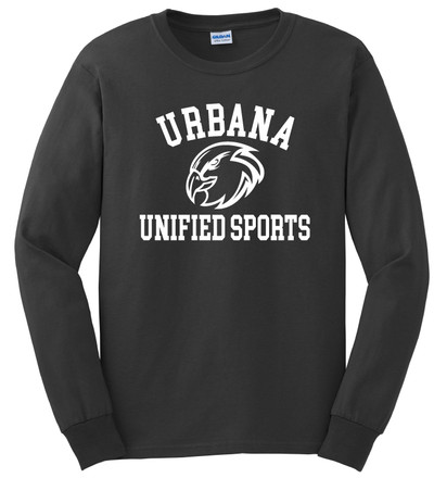 UHS Urbana Hawks T-shirt Cotton LONG SLEEVE UNIFIED SPORTS Many Colors Available SZ S-3XL CHARCOAL