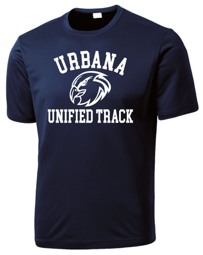 UHS Urbana Hawks UNIFIED TRACK T-shirt Performance Posi Charge Competitor Many Colors Available SZ XS-4XL NAVY