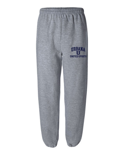 UHS Urbana Hawks UNIFIED SPORTS Sweatpants Cotton ELASTIC CUFF Bottom Many Colors Available SIZES S-2XL  SPORTS GREY