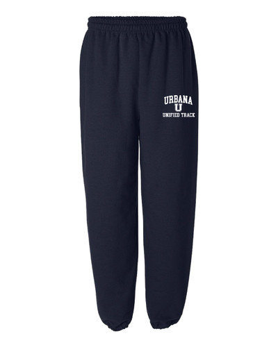 UHS Urbana Hawks UNIFIED TRACK Sweatpants Cotton ELASTIC CUFF Bottom Many Colors Available SIZES S-2XL NAVY