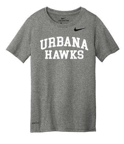 UHS Urbana Hawks T-shirt NIKE Performance Dri-FIT Many Colors Available Sz S-3XL  CARBON HEATHER