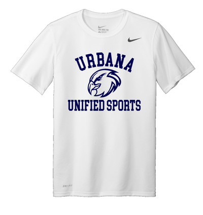 UHS Urbana Hawks UNIFIED SPORTS T-shirt NIKE Performance Dri-FIT Many Colors Available Sz S-3XL WHITE