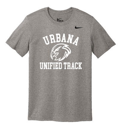 UHS Urbana Hawks UNIFIED TRACK T-shirt NIKE Performance Dri-FIT Many Colors Available Sz S-3XL CARBON HEATHER