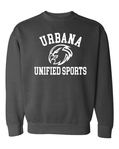 UHS Urbana Hawks UNIFIED SPORTS Crewneck Cotton Sweatshirt COMFORT COLORS Many Colors Available Sizes S-3XL PEPPER